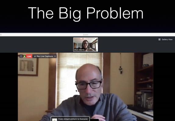 Richard talk on zoom snip
