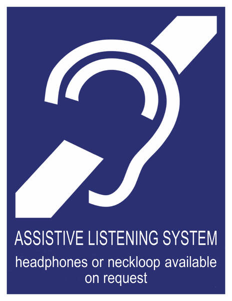 new purple assistive listening system sign june 30 2020
